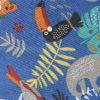 jungle tropical bleu paresseux toucan tigre perroquet singe