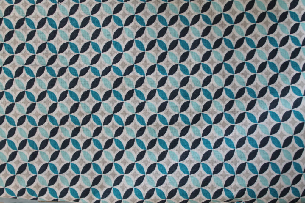 Géométrique bleu