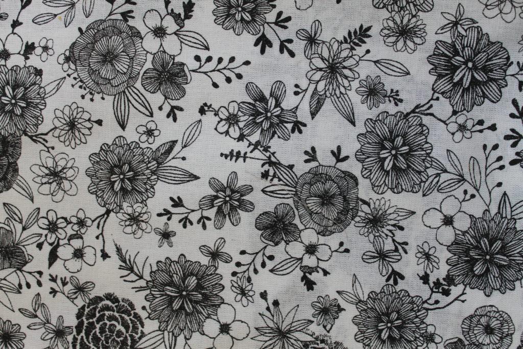 Fleurs Arty noir
